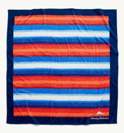 Tommy Bahama Serape Stripe 6X6 Foot Beach Towel Blanket
