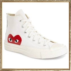 COMME DES GARÇONS PLAY x Converse Chuck Taylor 'Hidden Heart' Mens High Top Sneakers