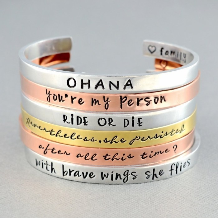 Custom Personalized Hand Stamped Cuff Bracelet