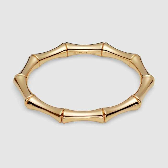 Gucci 18k Yellow Gold Bamboo Thin Bracelet
