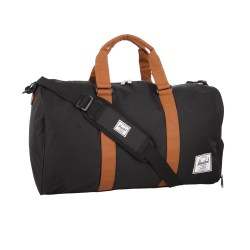 Herschel Supply Co. Novel Black Tan Duffle Bag