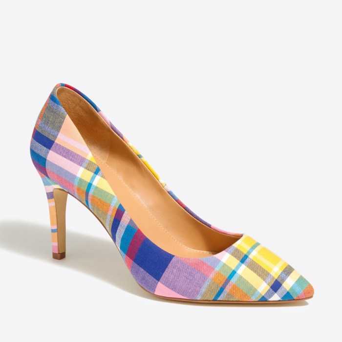 J. Crew Plaid Pumps