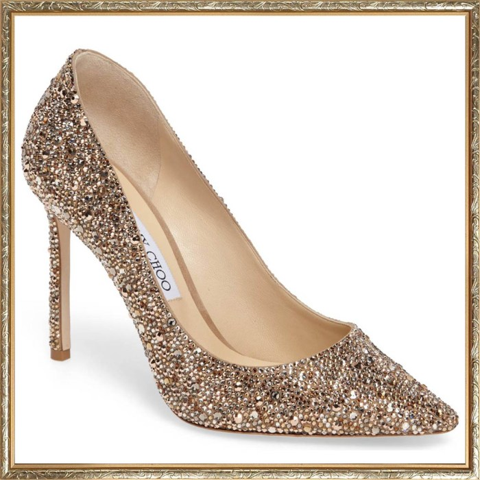 JIMMY CHOO Crystal Romy Pumps