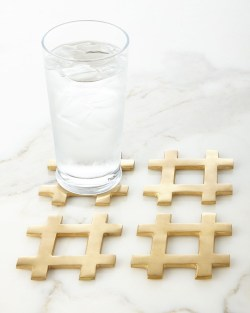 Hashtag Coasters Set of 4 by Kim Seybert