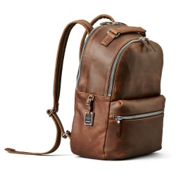 Shinola Runwell Medium Brown Leather Backpack