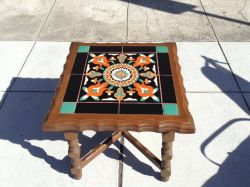 Spanish Revival California Tile Top Table