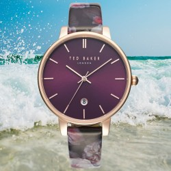 TED BAKER LONDON Kate Print 38mm Womens Leather Strap Watch