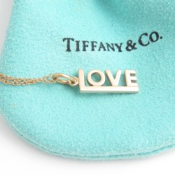 Tiffany & Co 18K Rose Gold Love Pendant Necklace