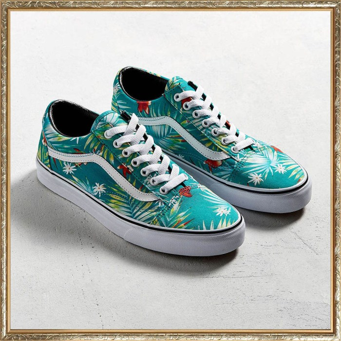 Vans Old Skool Teal Palms Mens Shoes