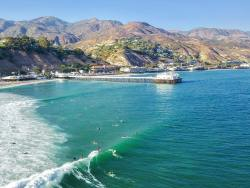 View of the Malibu Pier from a Drone