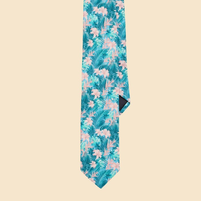 Hawaiian Tropics Cotton Necktie Handcrafted in the USA