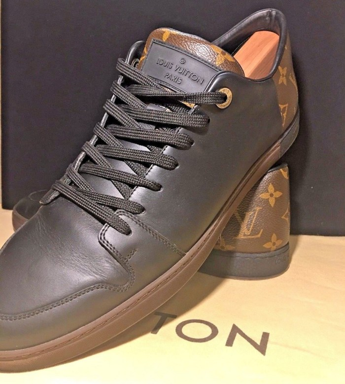 LOUIS VUITTON Leather Monogram Size 10 Mens Line-Up Sneakers