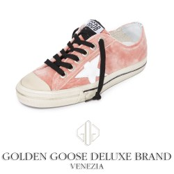 Golden Goose V-Star Velvet Rose Womens Sneakers