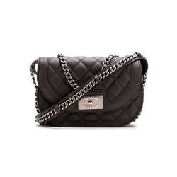 Chanel Pre-Owned Graphite Calfskin Messenger Shoulder Bag