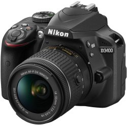 Nikon D3400 24.2 MP DSLR Camera with 18-55mm VR Lens Kit 1571B Certified Refurbished