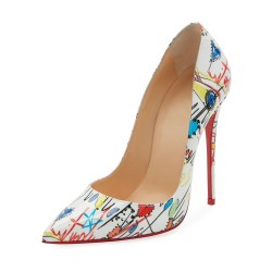Christian Louboutin So Kate Loubitag Graffiti Red Sole Pump Shoes