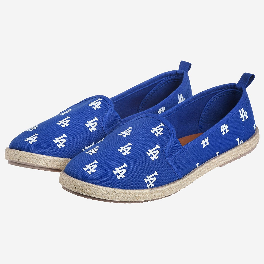 LA Dodgers Espadrille MLB Los Angeles Team Logo Womens Canvas Slip On Flats Shoes