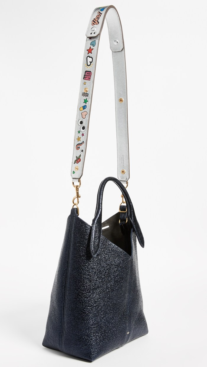 Anya Hindmarch Allover Wink Shoulder Handbag Strap