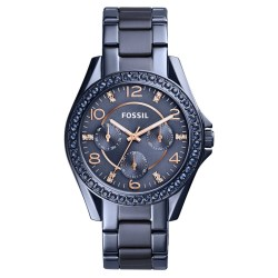 FOSSIL Riley Crystal Bezel 38mm Multifunction Bracelet Watch