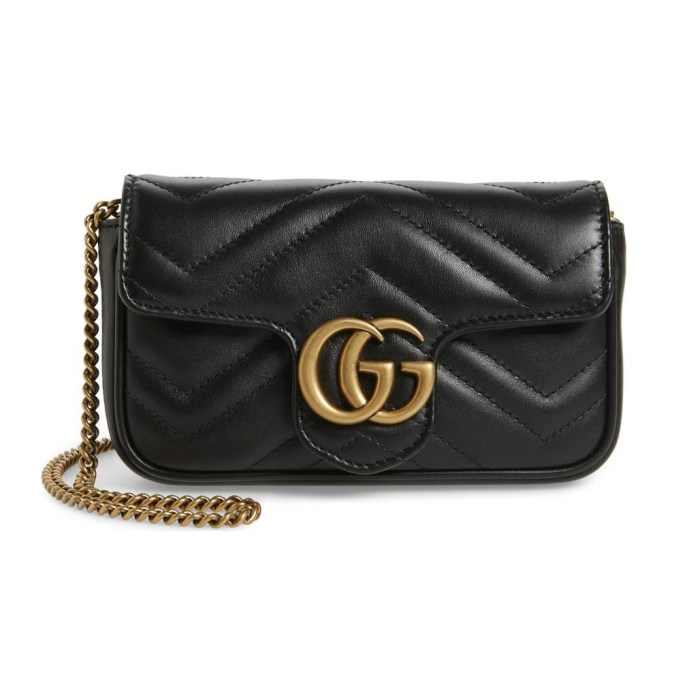 GUCCI Supermini GG Marmont 2.0 Matelassé Leather Shoulder Bag