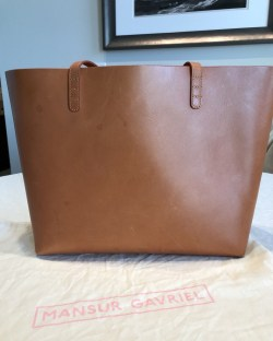 Mansur Gavriel Cammello Rosa Interior Large Leather Tote Bag