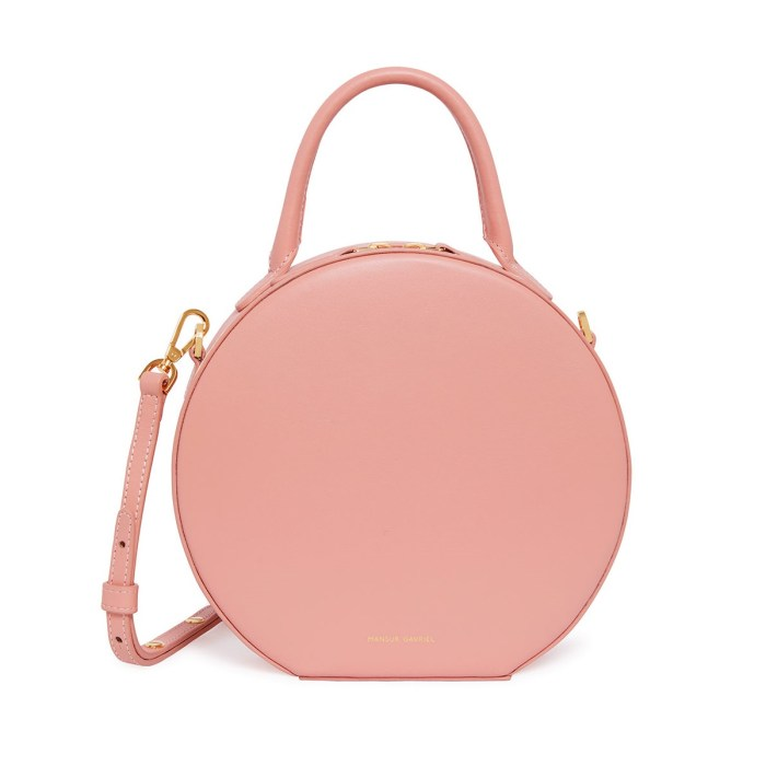 Mansur Gavriel Leather Circle Pink Crossbody Bag