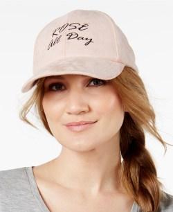 Steve Madden Rosé All Day Faux-Suede Baseball Cap