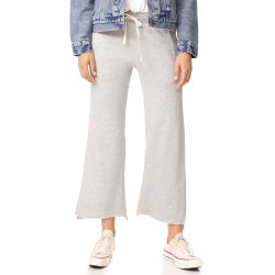 SUNDRY Heather Grey Flare Sweatpants