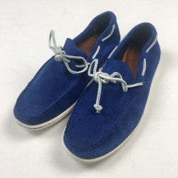 Polo Ralph Lauren Blue Suede Deck Mens Size 9.5D Boat Shoes