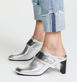 Rag & Bone Elliot Mules Silver Shoes