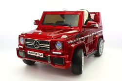 Mercedes G65 AMG 12V Kids Cherry Red G Wagon Luxury Ride-On Car