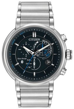 Citizen Eco-Drive Men's BZ1000-54E Proximity Bluetooth Silver-Tone 46mm Watch