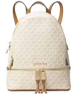 Michael Kors Signature Rhea Zip Medium Backpack