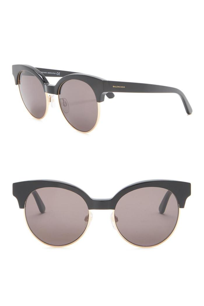 Balenciaga Round 51mm Womens Designer Sunglasses