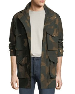 Burberry Mens Camo Field Jacket
