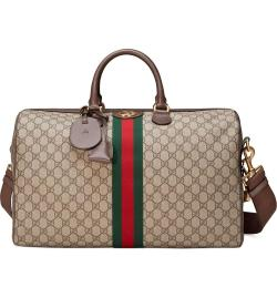 GUCCI Medium Ophidia GG Supreme Carry-On Womens Designer Duffel Bag