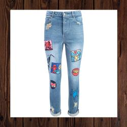 KEITH HARING X ALICE AND OLIVIA BYRON WOMENS JEANS