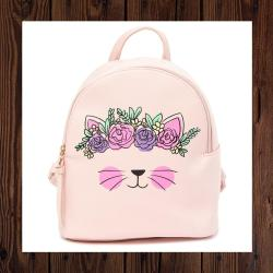 T-Shirt & Jeans Flower Crown Cat Backpack