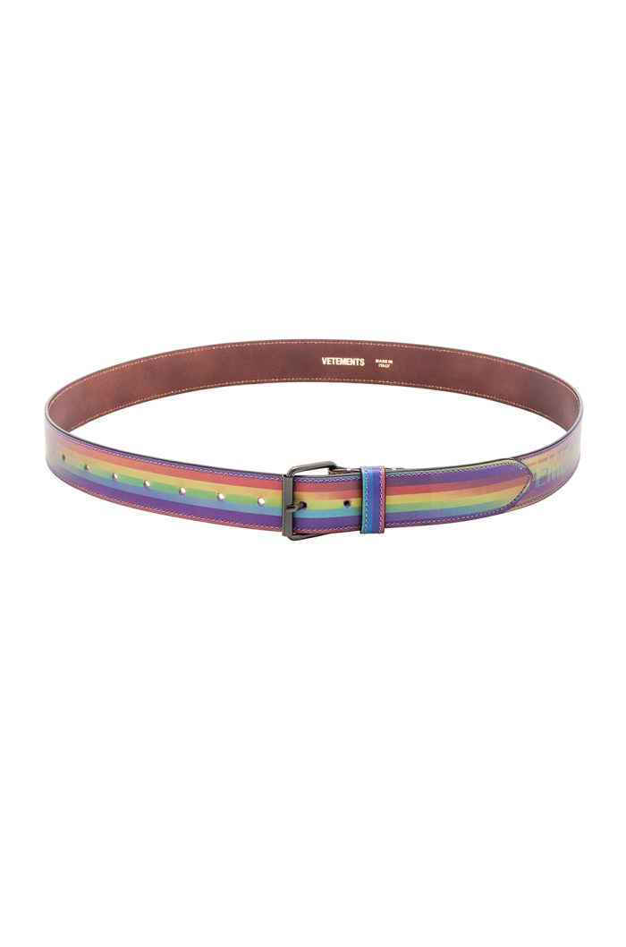 VETEMENTS Hologram Mens Rainbow Belt