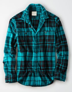 American Eagle AE FLANNEL MENS BUTTON DOWN SHIRT