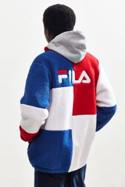 FILA UO Exclusive Chavis Colorblock Sherpa Jacket from Urban Outfitters