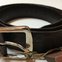 Loro Piana Men's Brown Crocodile Belt Size 120/48 Made in Italy