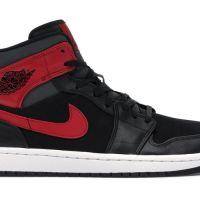 Air Jordan 1 Retro Mid Gym Red Sneakers