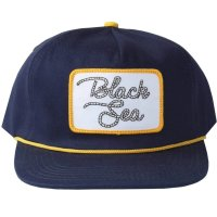Black Sea Roped Navy/Gold Snapback Hat - Mens Hat - New