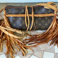Authentic Louis Vuitton Popincourt Crossbody Funky Fringe BoHo Upcycled Gypsy Handbag