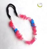 Collana filo unico - plastica e stoffa - Malice's Craftland - riciclo creativo -