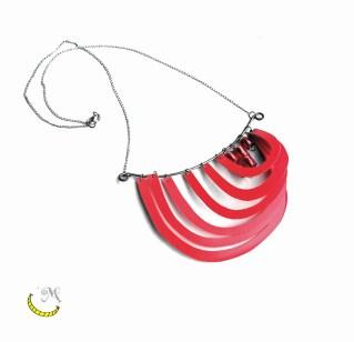 Collana filo unico - plastica riciclata- Malice's Craftland - riciclo creativo -