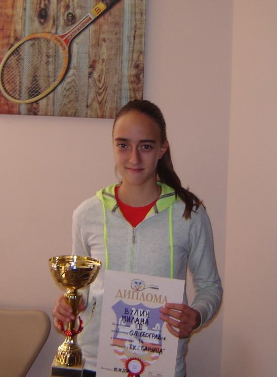 Milana Vulin osvojila turnir 3. kategorije u TK Banjica
