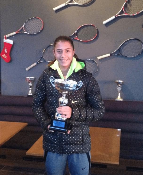Olga Danilović, pobednica Dvoranskog prvenstva Srbije do 14 godina u tenisu za 2015. godinu