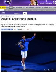 Нова тема на нашем форуму – да ли је Новак у праву да српски тенис изумире?